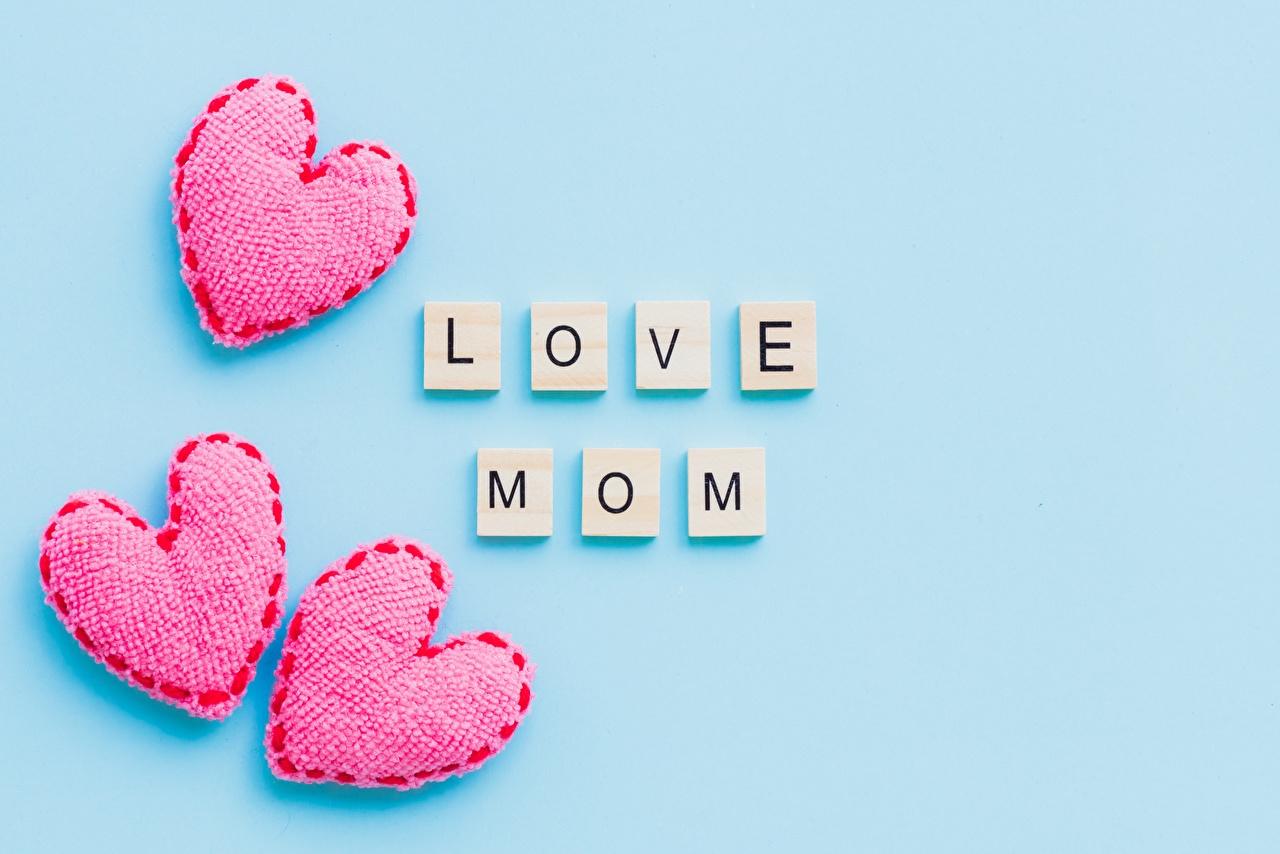 Фотографии День матери сердца Цветной фон серце Сердце сердечко