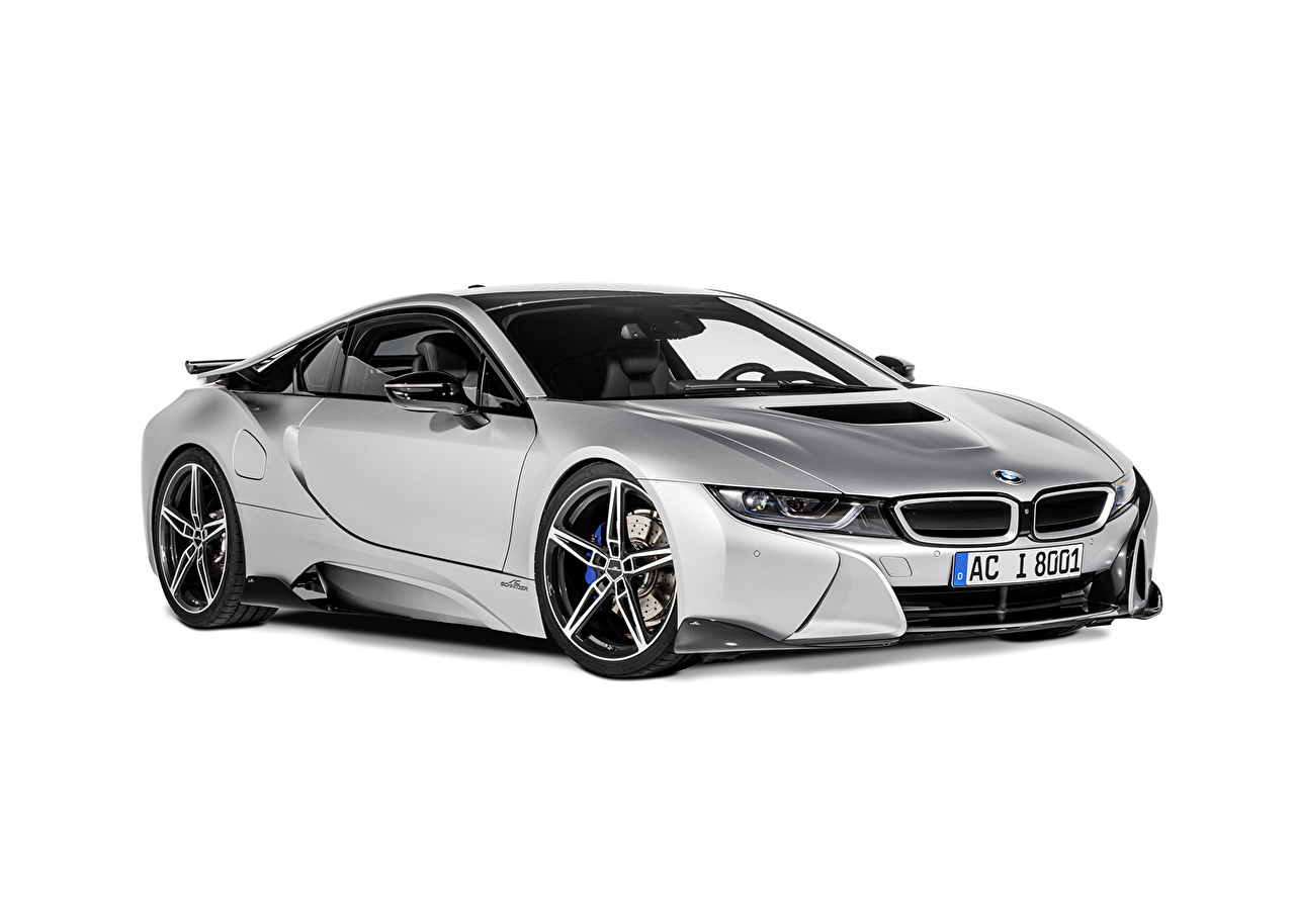 Картинки БМВ Тюнинг 2015 i8 (AC Schnitzer) серебристая Автомобили BMW Стайлинг серебряный серебряная Серебристый авто машины машина автомобиль
