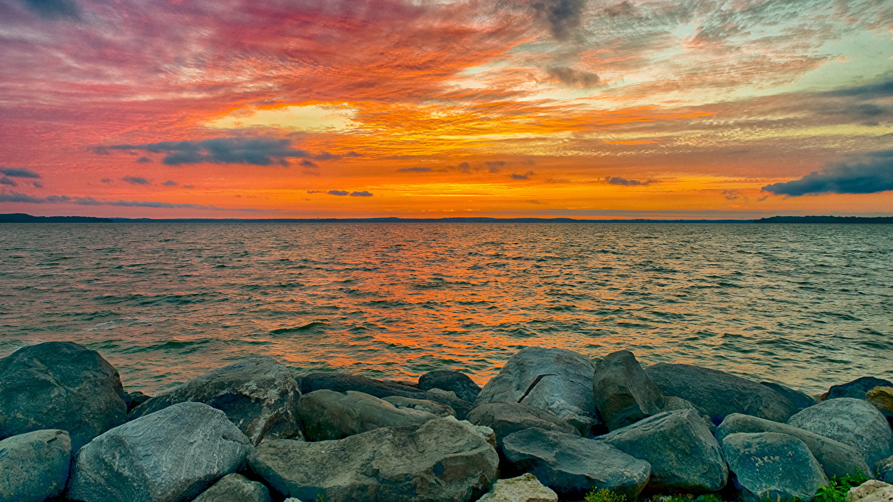 Фото Море Природа Небо Рассветы и закаты Камни рассвет и закат Камень