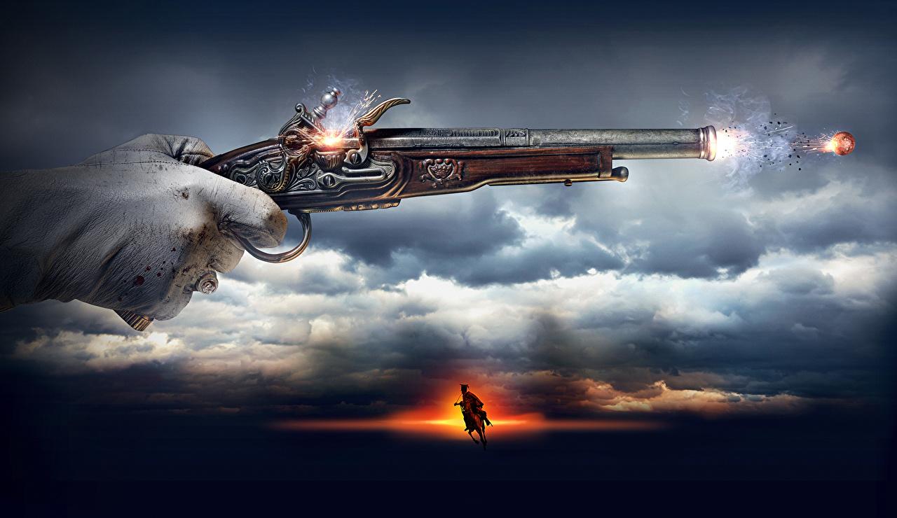 Фотографии 1812: Уланская баллада стрельба пистолетом кино облачно Выстрел пистолет стреляет Пистолеты выстрелил Фильмы Облака облако