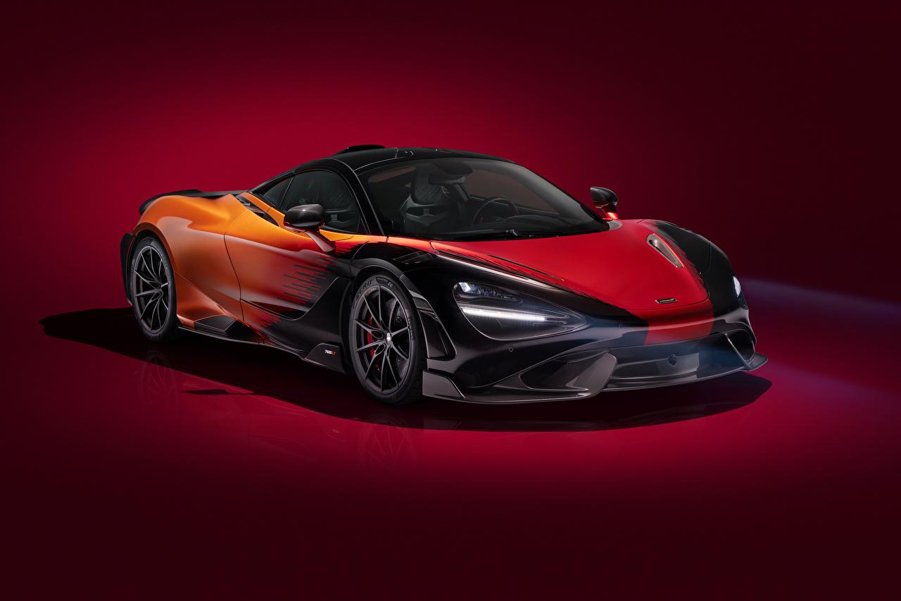 Картинки Макларен 2020-21 MSO 765LT Strata Worldwide машина Цветной фон McLaren авто машины Автомобили автомобиль