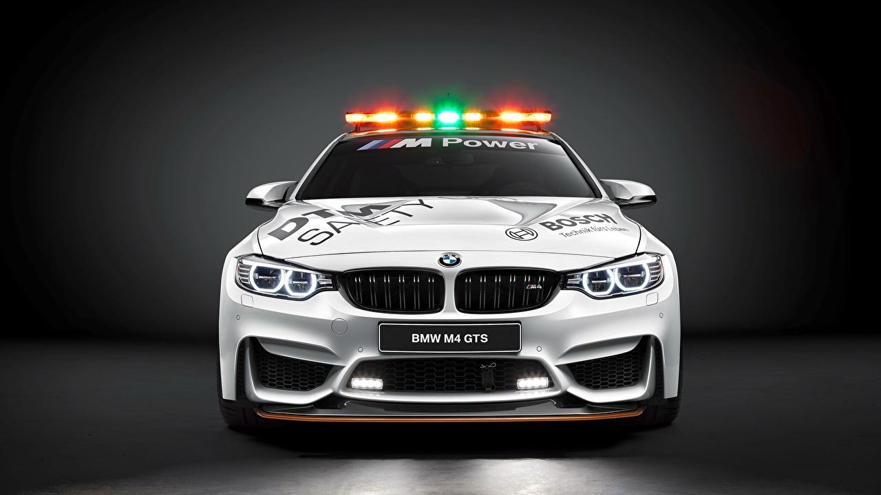 Фото BMW DTM GTS F82 Safety Car белая Спереди автомобиль БМВ белых белые Белый авто машина машины Автомобили