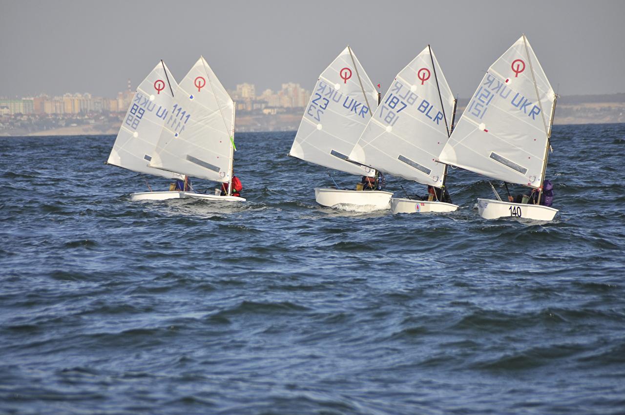 Картинки Море Лодки Парусные