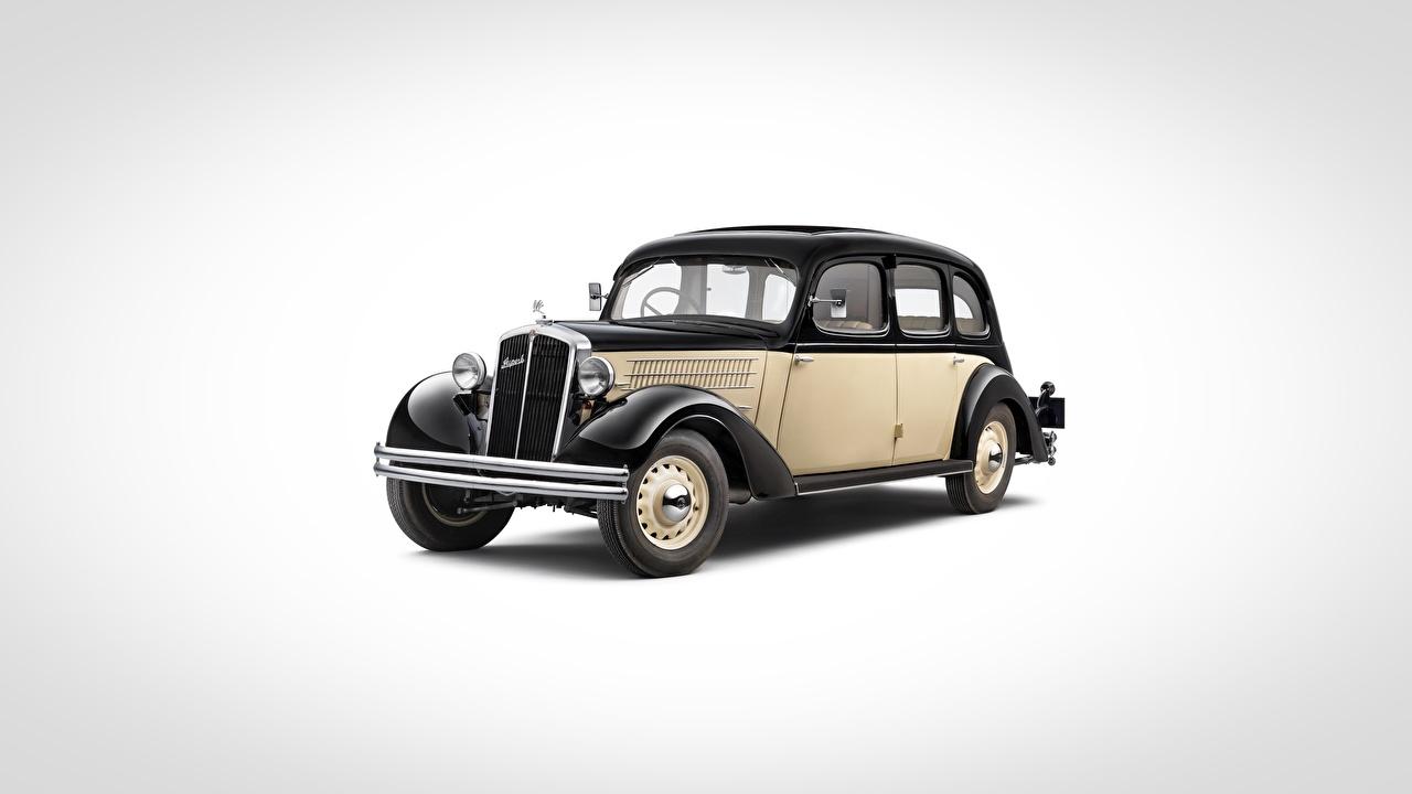 Фото Шкода Superb, 1934-1939 винтаж машины Серый фон Skoda Ретро старинные авто машина автомобиль Автомобили сером фоне
