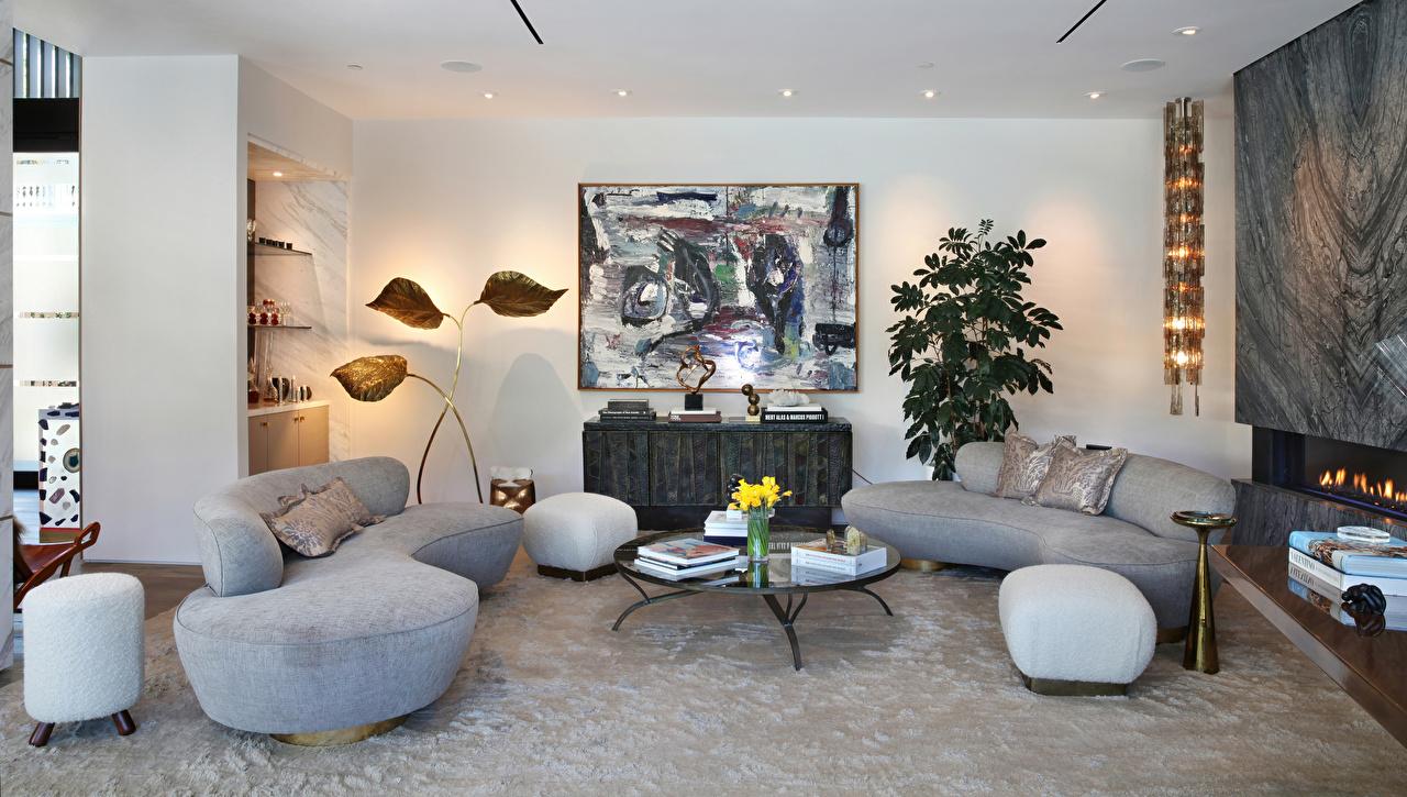 Обои для рабочего стола Гостиная Интерьер диване дизайна гостевая Диван Дизайн
