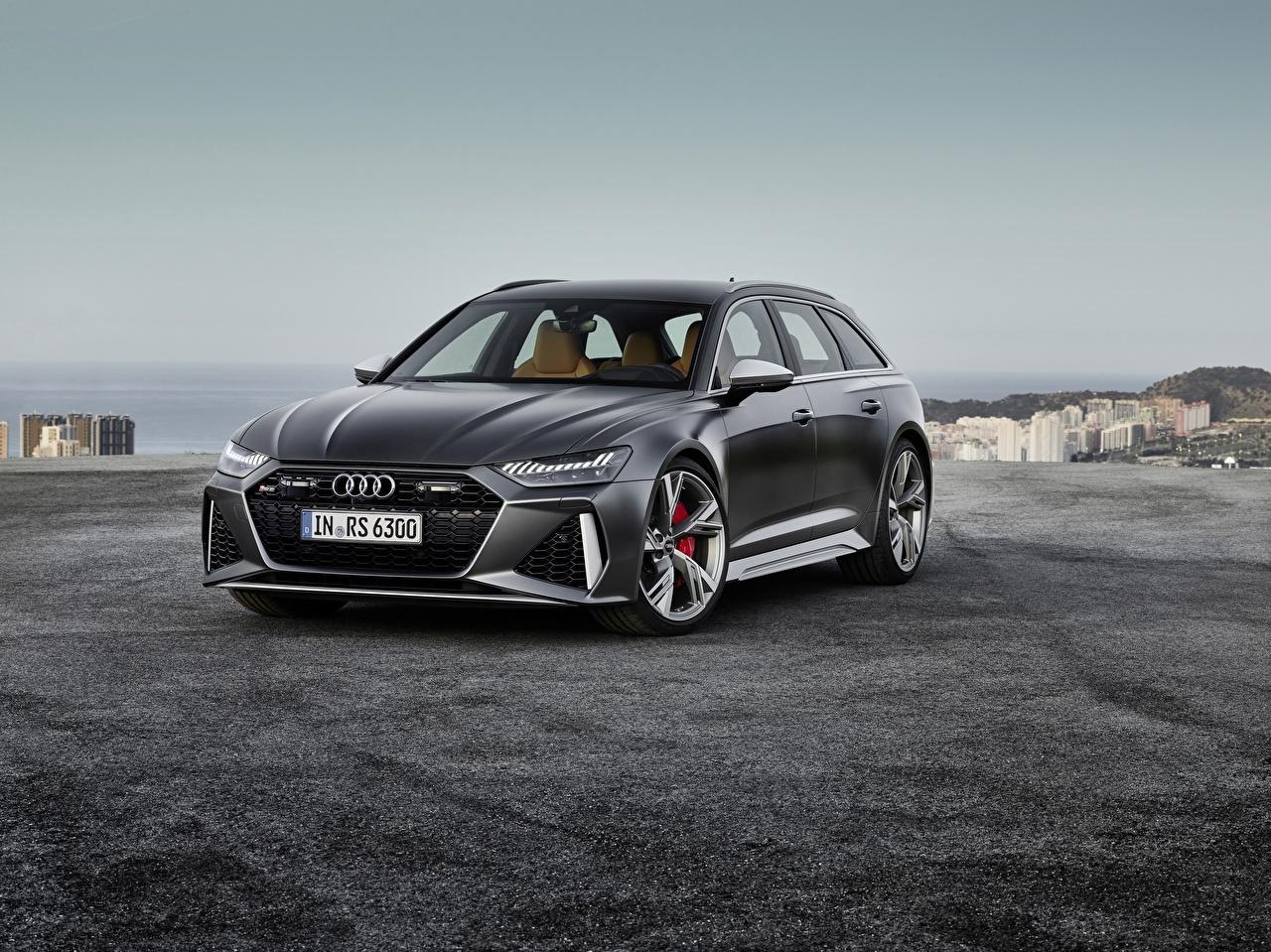 Картинка Ауди Avant, RS6, 2019 черная Металлик Автомобили Audi черных черные Черный авто машина машины автомобиль
