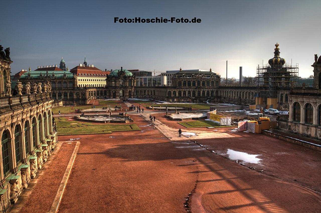 Картинка Дрезден Германия улице город улиц Улица Города