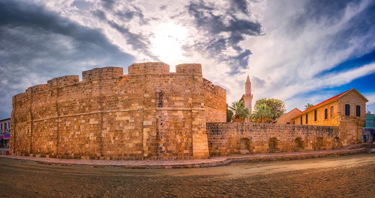 Фотографии Республика Кипр Larnaka Medieval Castle Замки Небо Города