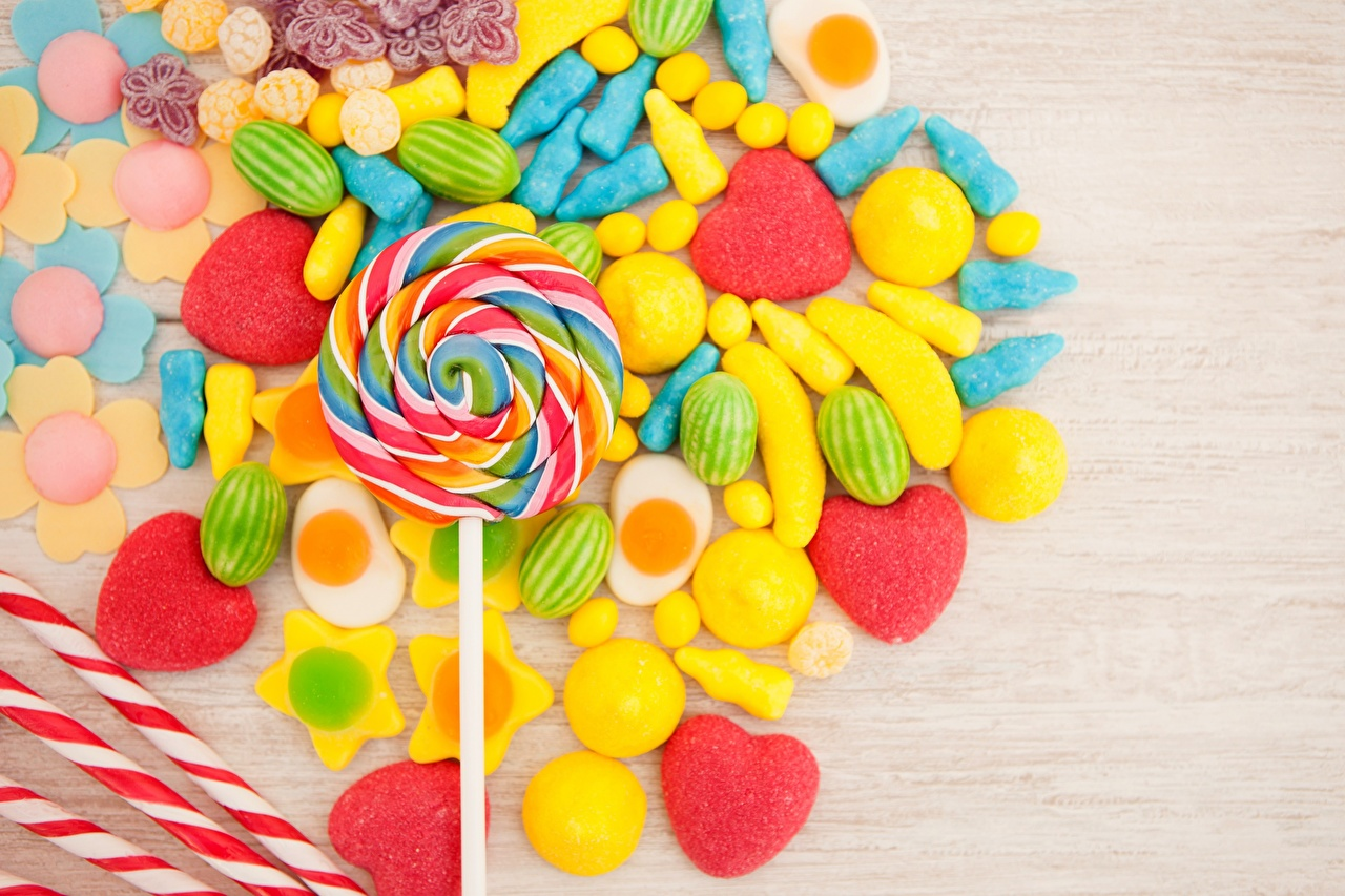 Картинка Леденцы Конфеты Пища Сладости Еда Продукты питания сладкая еда