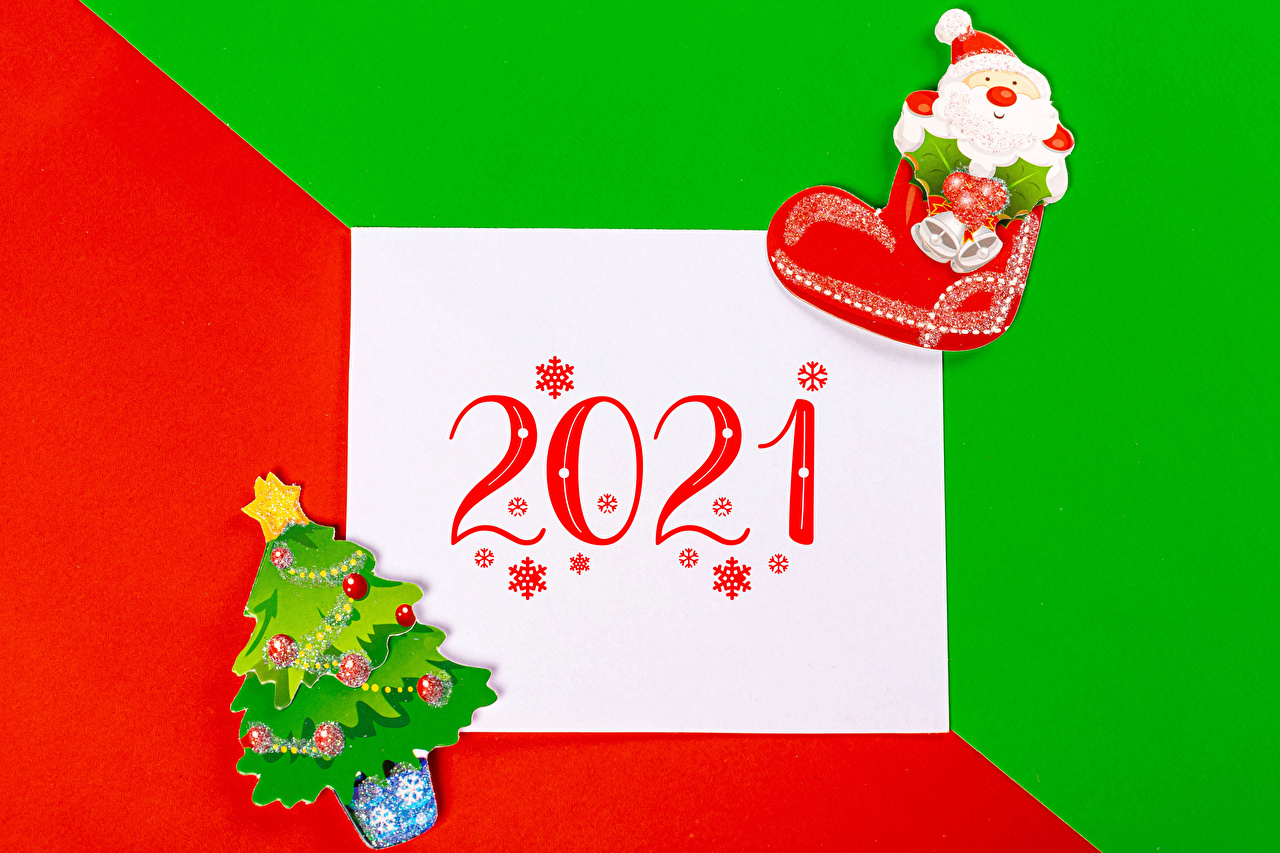 Картинки 2021 Новый год Лист бумаги Сапоги Елка снежинка Санта-Клаус Рождество сапог сапогов сапогах Снежинки Дед Мороз Новогодняя ёлка