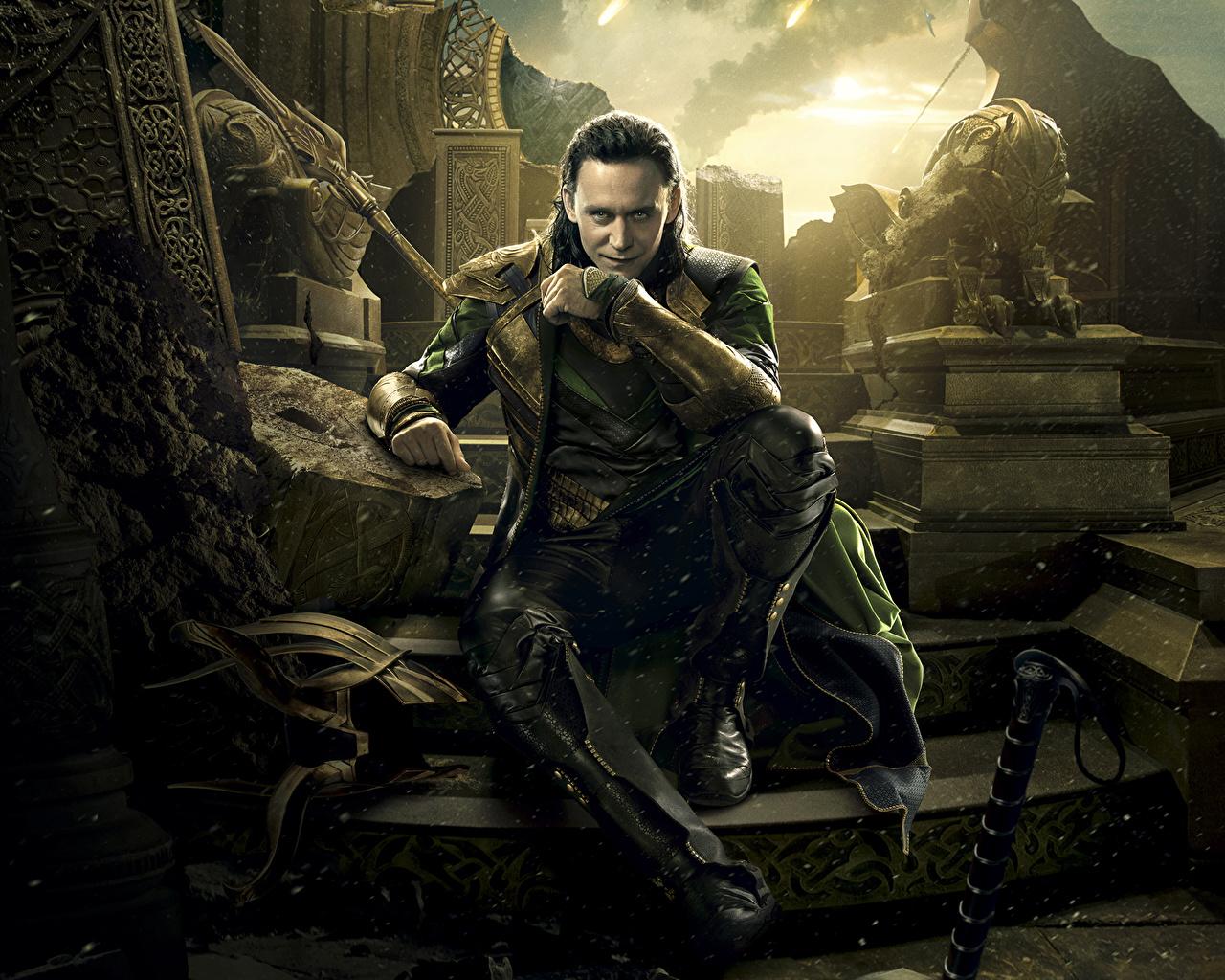 Фотография Тор 2: Царство тьмы Tom Hiddleston мужчина Фильмы Знаменитости Том Хиддлстон Мужчины кино
