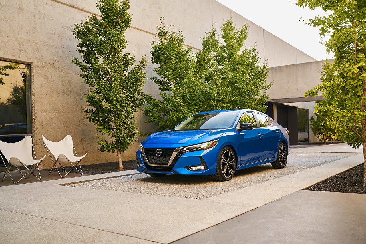 Фото Nissan 2020 Sentra SR голубая машины Металлик Ниссан Голубой голубые голубых авто машина Автомобили автомобиль