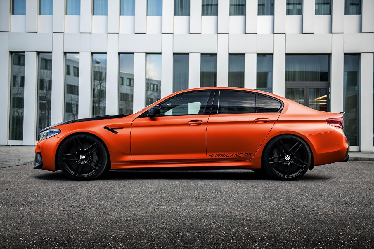 Фото БМВ Тюнинг M5, G-Power, F90, G5M Hurricane RS Сбоку машина Металлик BMW Стайлинг авто машины автомобиль Автомобили