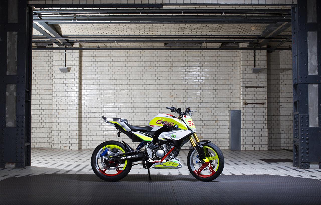 Обои для рабочего стола Тюнинг BMW - Мотоциклы 2015 Concept Stunt G 310 мотоцикл Сбоку БМВ Стайлинг Мотоциклы