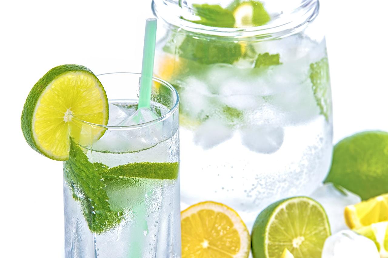 Обои для рабочего стола Лайм Лимонад стакана Пища Напитки Стакан стакане Еда Продукты питания напиток
