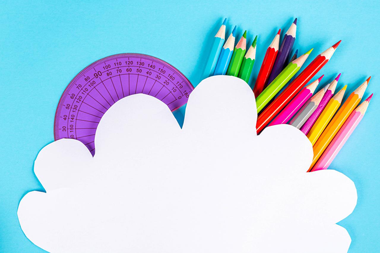 Обои для рабочего стола карандаш Разноцветные Шаблон поздравительной открытки Цветной фон Карандаши карандаша карандашей