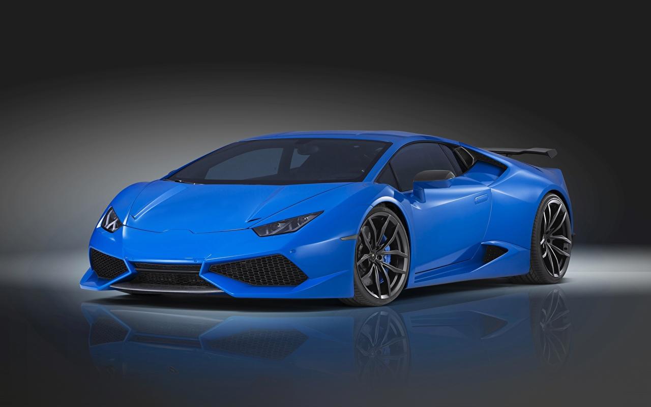 Фото Ламборгини Novitec Torado Huracan синяя авто Lamborghini синих синие Синий машина машины автомобиль Автомобили