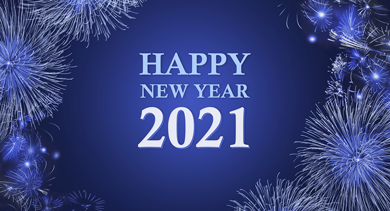Картинка 2021 Салют Рождество английская текст Новый год фейерверк Английский инглийские слова Слово - Надпись