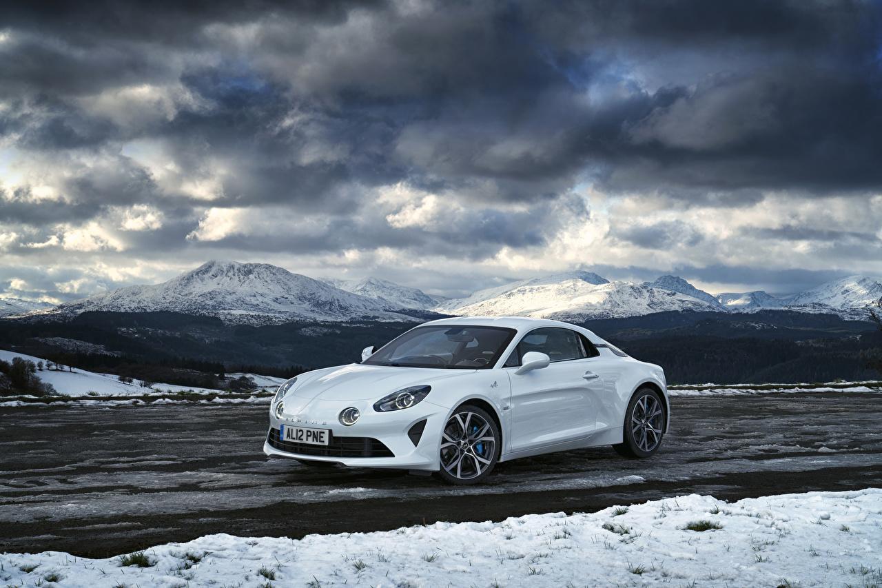 Фото Рено 2018-19 Alpine A110 Pure Белый Авто Металлик Renault Машины Автомобили
