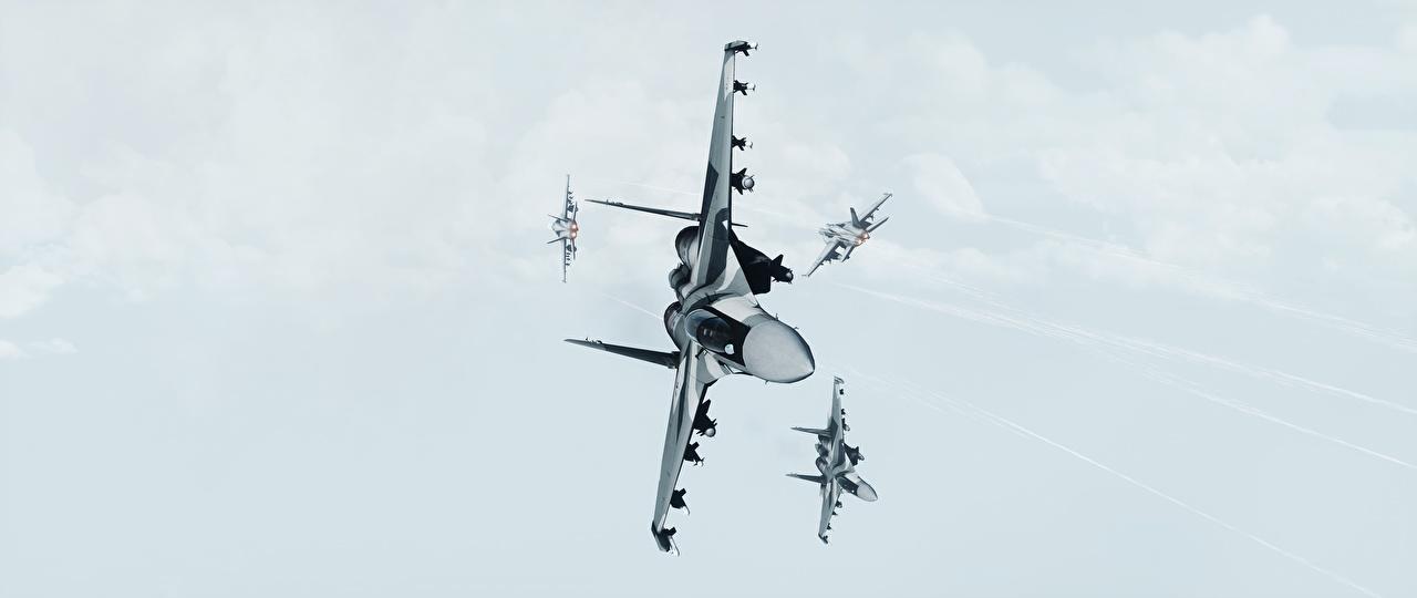 Фотография Battlefield 3 Истребители Самолеты 3D Графика Игры Авиация