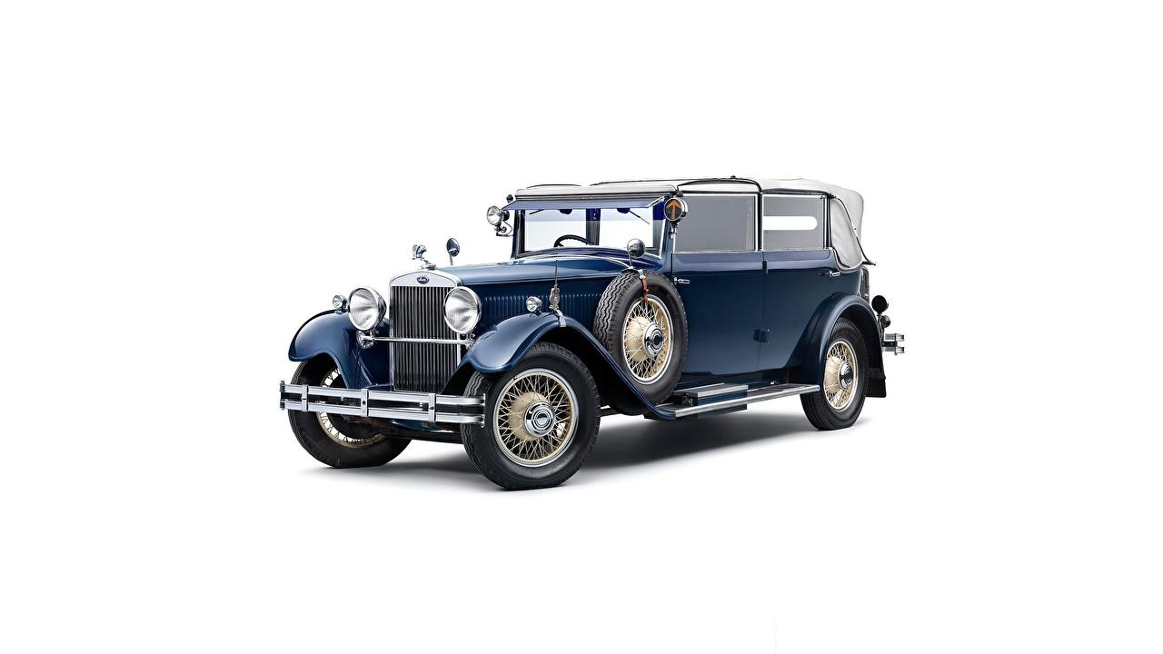 Фотография Skoda 860, 1929-1933 кабриолета Ретро Автомобили Белый фон Шкода Кабриолет винтаж старинные авто машина машины автомобиль белом фоне белым фоном