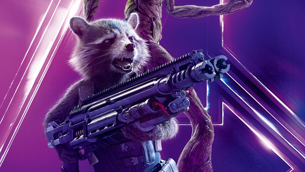 Картинка Мстители: Война бесконечности Еноты Rocket Фильмы кино