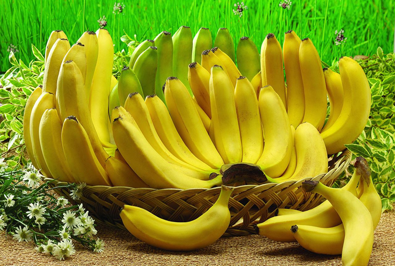 Обои Бананы Еда Много вблизи Пища Продукты питания Крупным планом