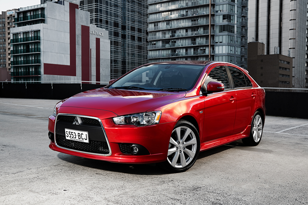 Обои Мицубиси Lancer Красный Авто Mitsubishi Машины Автомобили