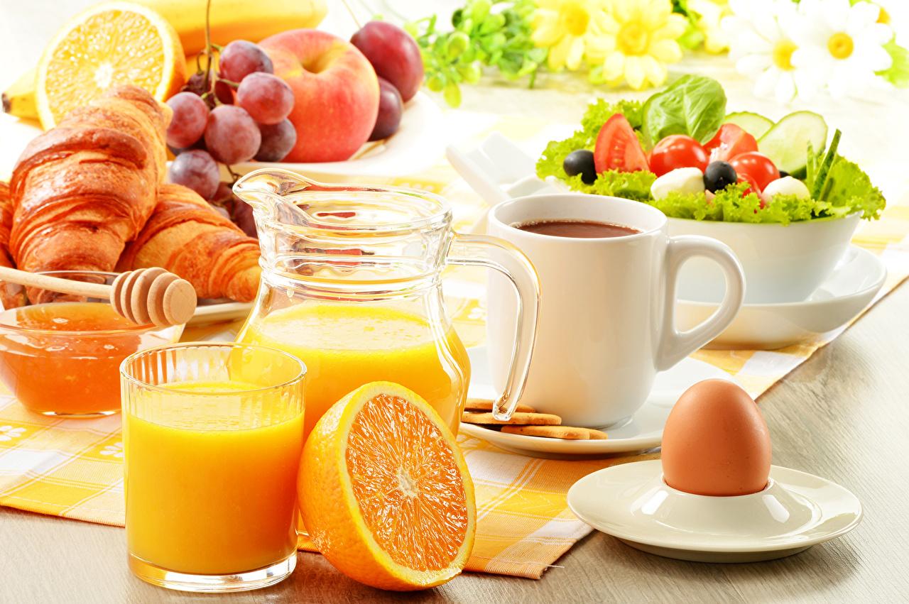 Картинки яйцами Сок Кофе Апельсин Кувшин Стакан Пища чашке Фрукты Салаты Выпечка Натюрморт яиц яйцо Яйца кувшины стакане стакана Еда Чашка Продукты питания