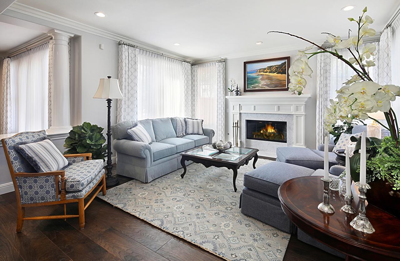 Картинки гостевая Камин Интерьер Диван Кресло дизайна Гостиная камина камины диване Дизайн