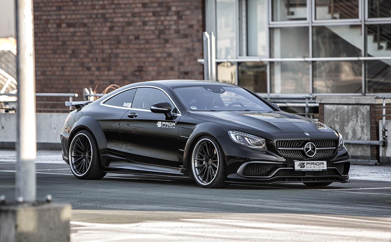 Картинки Mercedes-Benz 2016 Prior-Design PD990SC Widebody черных машины Мерседес бенц Черный черные черная авто машина автомобиль Автомобили