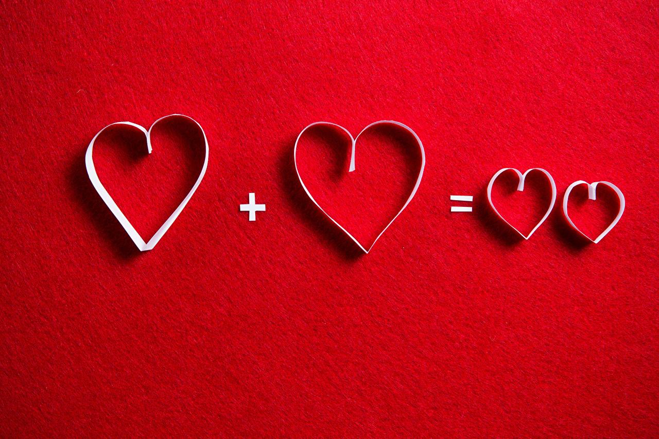 Фото День всех влюблённых сердечко Красный фон День святого Валентина Сердце