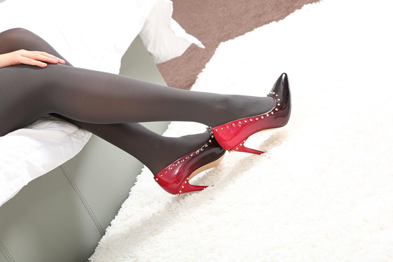 Фотографии Колготки молодая женщина Ноги вблизи туфлях колготок колготках девушка Девушки молодые женщины ног Крупным планом Туфли туфель