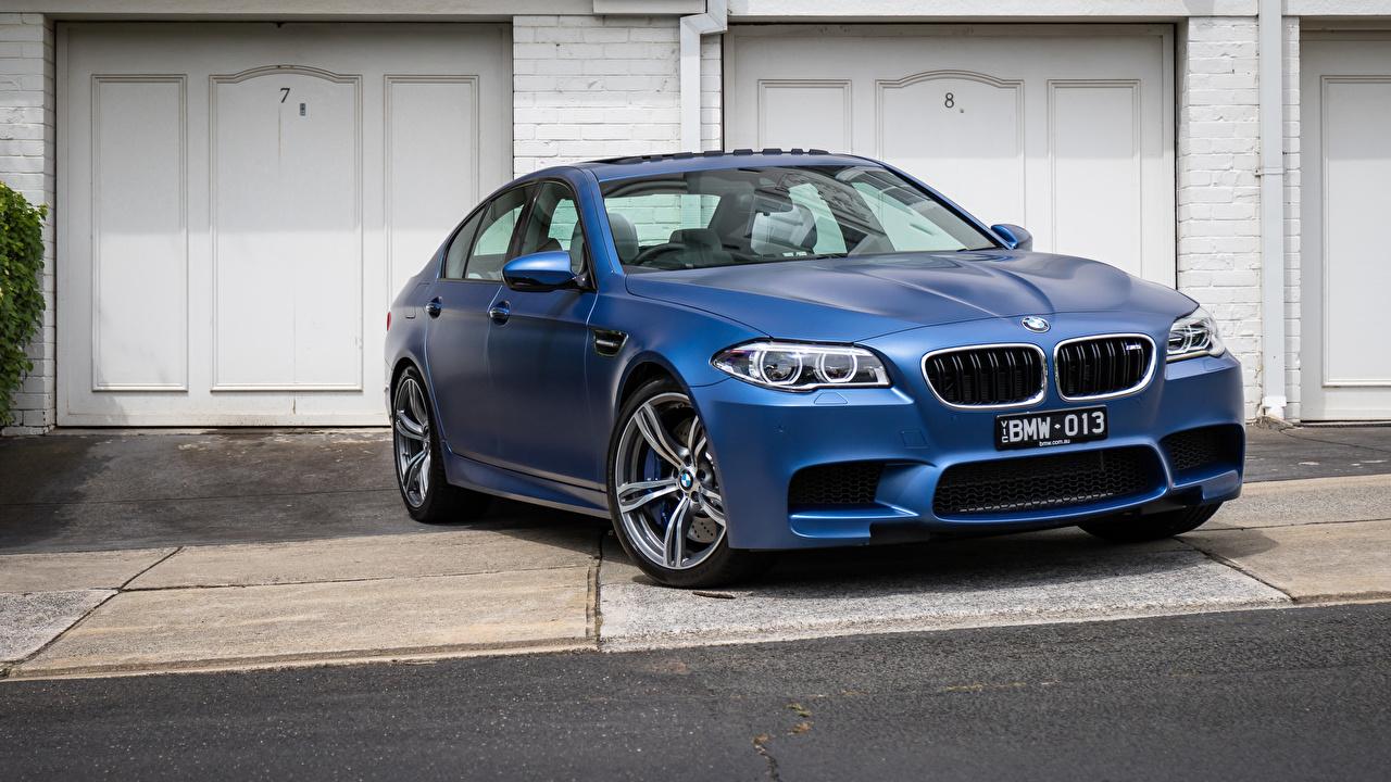 Фото BMW F10 Седан синяя Автомобили БМВ Синий синие синих авто машины машина автомобиль