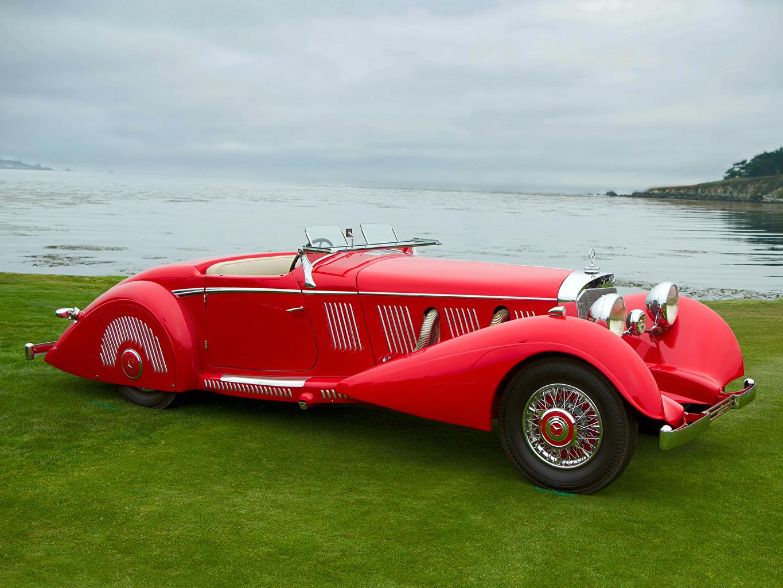 Фотографии Мерседес бенц 540K Special Roadster by Mayfair 1937 Родстер автомобиль Mercedes-Benz авто машина машины Автомобили
