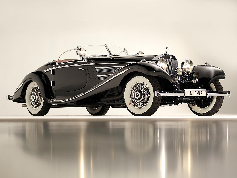 Фотография Мерседес бенц 1936 540K Special Roadster Родстер авто Mercedes-Benz машина машины автомобиль Автомобили