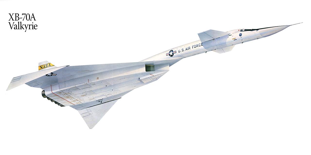 Картинка Самолеты XB-70A Valkyrie Рисованные Авиация