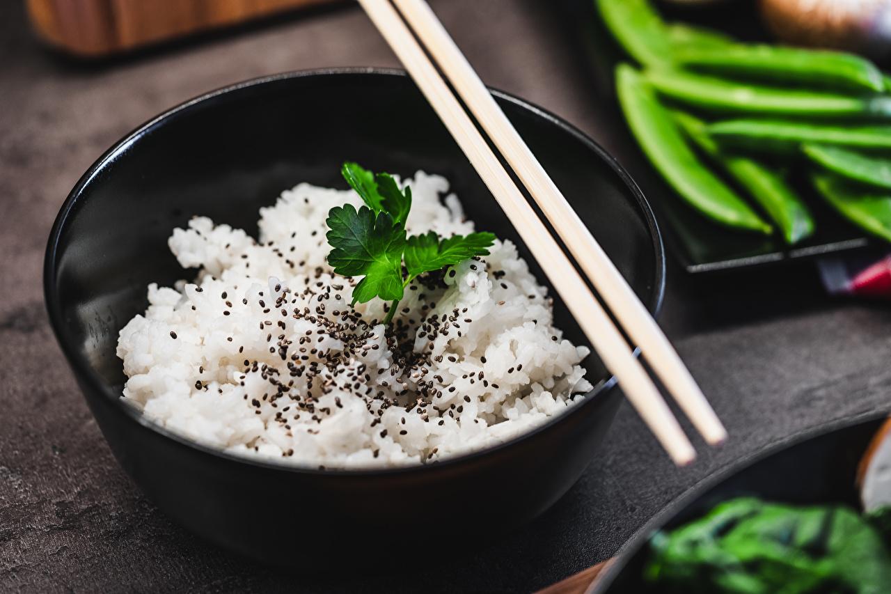 Картинки Bibimbap Рис Миска Еда Палочки для еды Пища Продукты питания