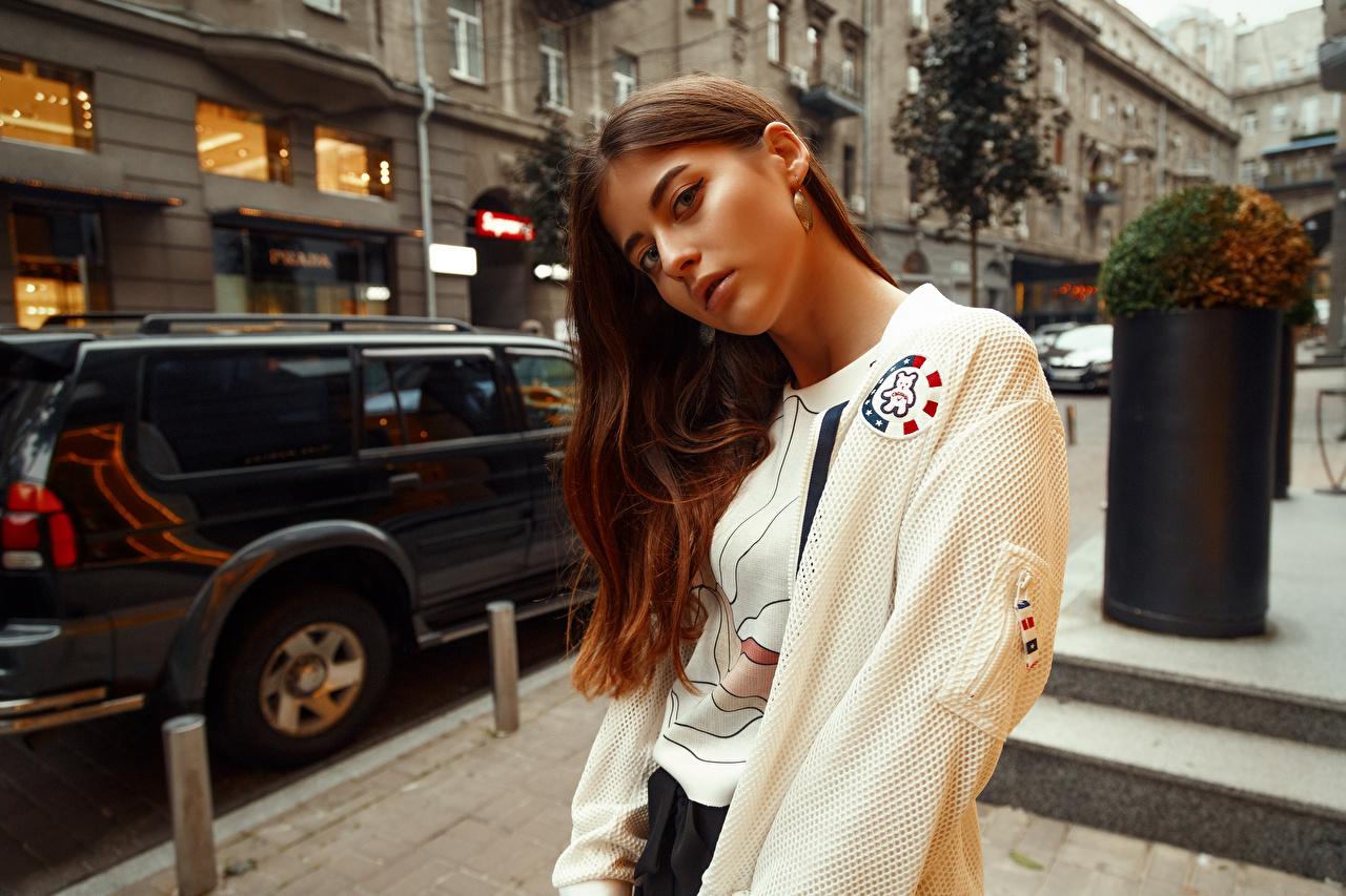 Фото Viacheslav Krivonos Шатенка Dana молодые женщины смотрит шатенки девушка Девушки молодая женщина Взгляд смотрят