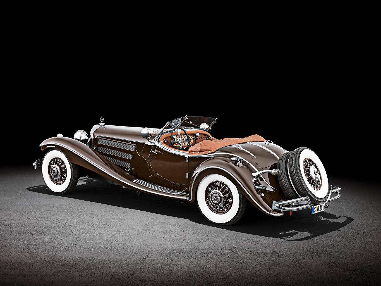 Картинки Mercedes-Benz 500 K Special Roadster (W 29), 1934 Родстер Ретро Коричневый Автомобили Мерседес бенц винтаж старинные коричневая коричневые авто машина машины автомобиль