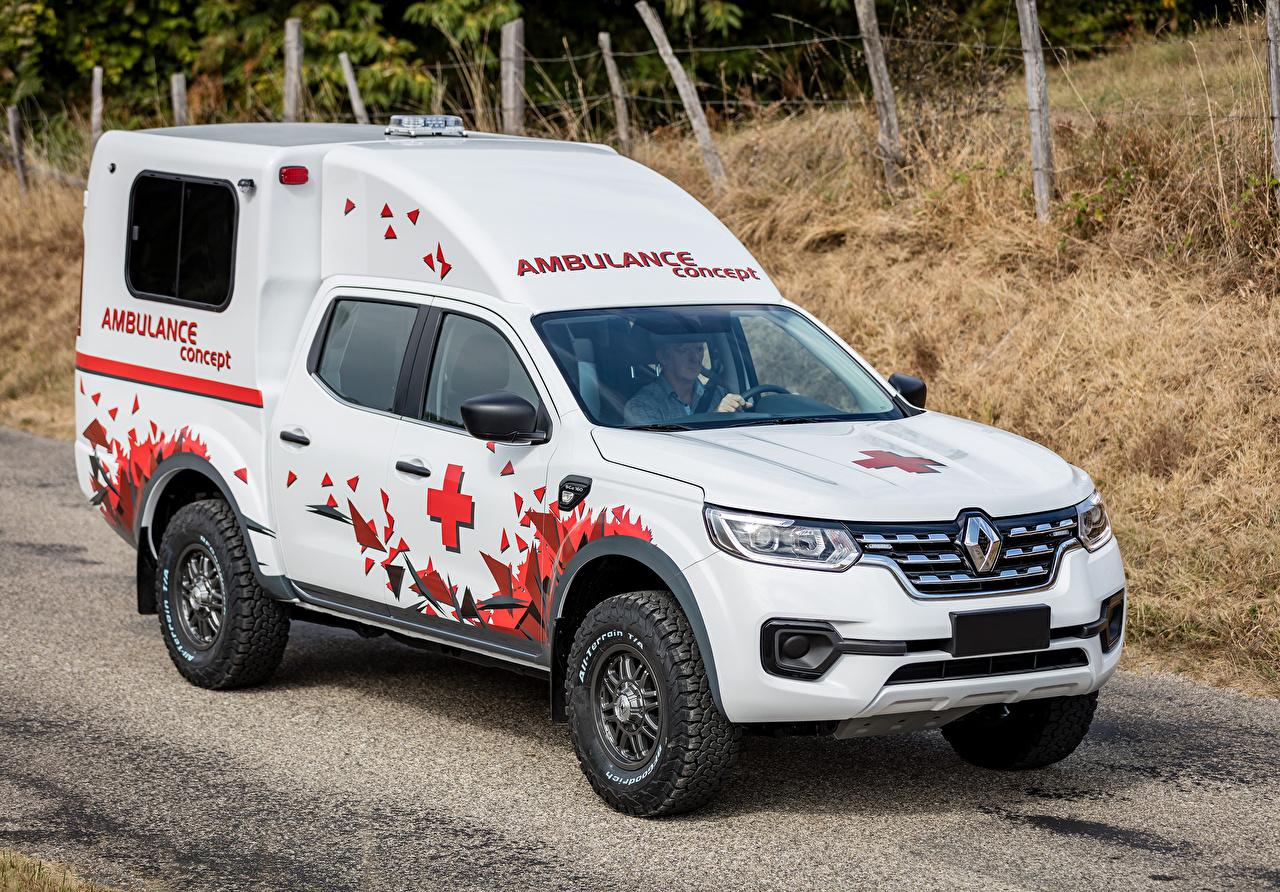 Фото Renault 2016 Alaskan Ambulance Concept by Sanicar Белый Автомобили Рено белых белые белая авто машина машины автомобиль