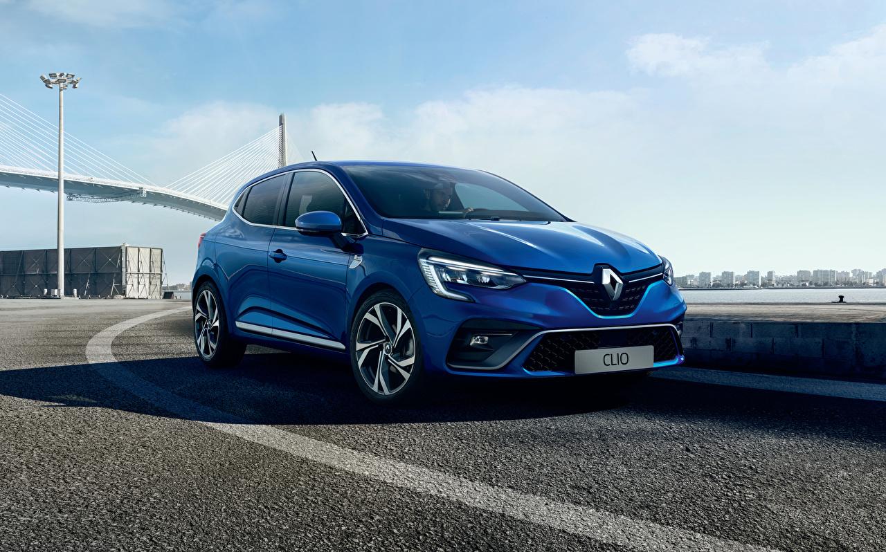 Картинки Рено 2019 Clio R.S. Line Worldwide синих Автомобили Renault Синий синие синяя авто машина машины автомобиль