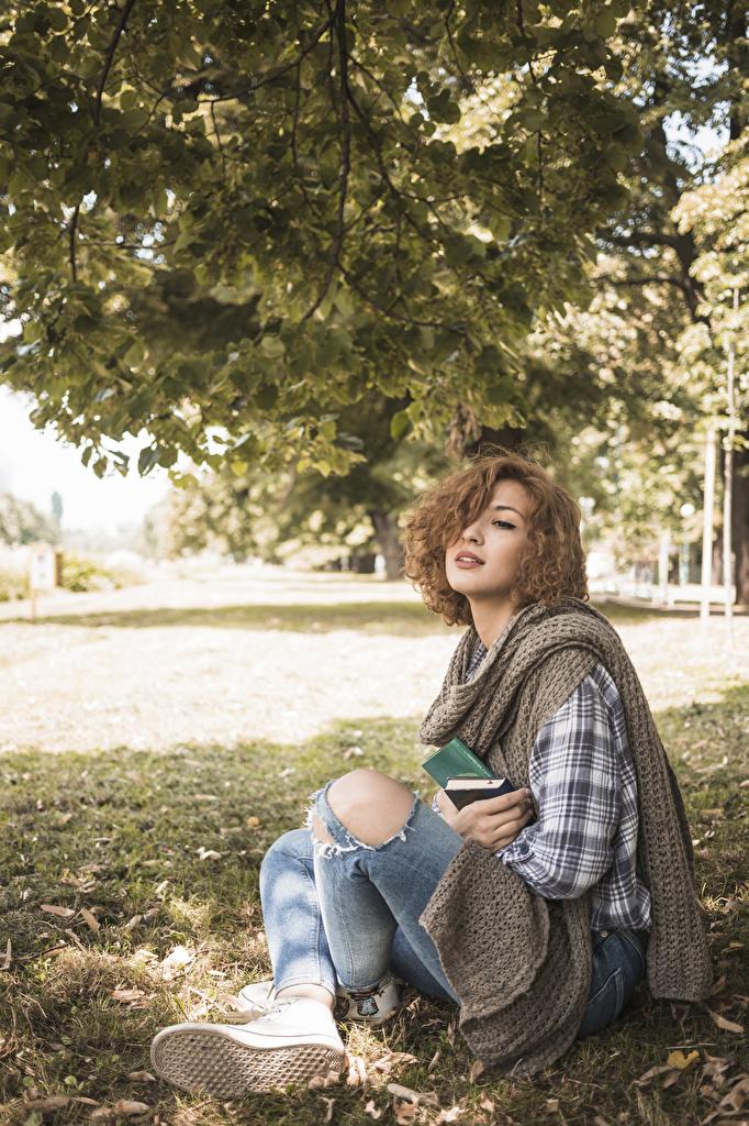 Фото Шатенка Шарф Девушки сидящие шатенки шарфе шарфом девушка молодые женщины молодая женщина сидя Сидит