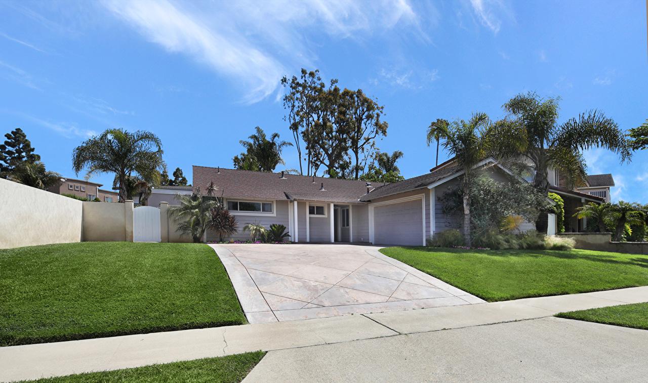 Фотографии Калифорния США Costa Mesa Особняк Газон Города Здания Дизайн штаты Дома