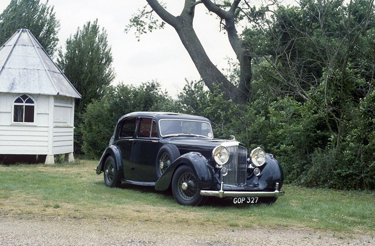 Картинки Бентли 1939 Mark V Saloon by Park Ward старинные Автомобили Bentley Ретро винтаж авто машины машина автомобиль