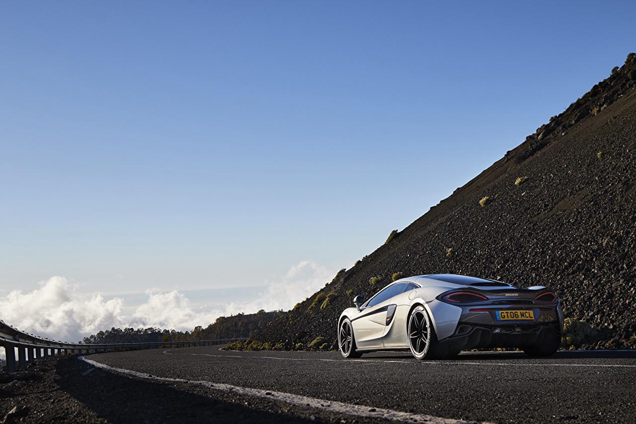 Картинки Макларен 570GT авто вид сзади McLaren Сзади машина машины автомобиль Автомобили