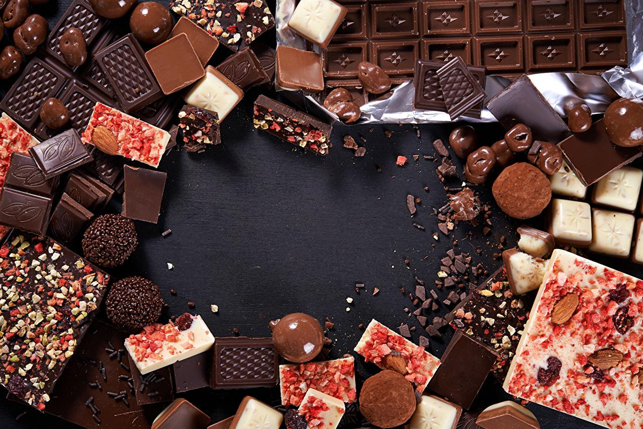 Фото Шоколад Конфеты Еда Сладости Пища Продукты питания