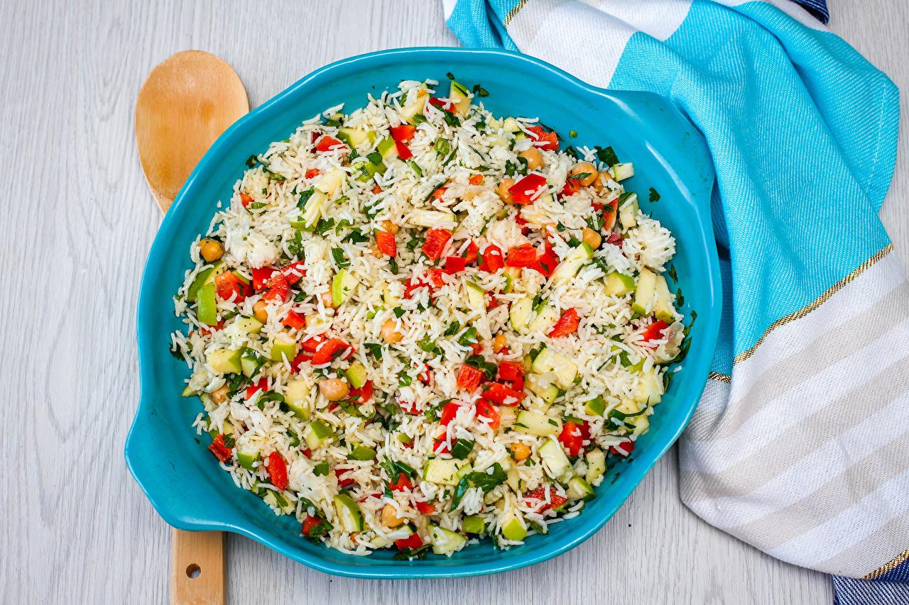 Картинки Рис Еда Овощи Тарелка Вторые блюда Пища тарелке Продукты питания
