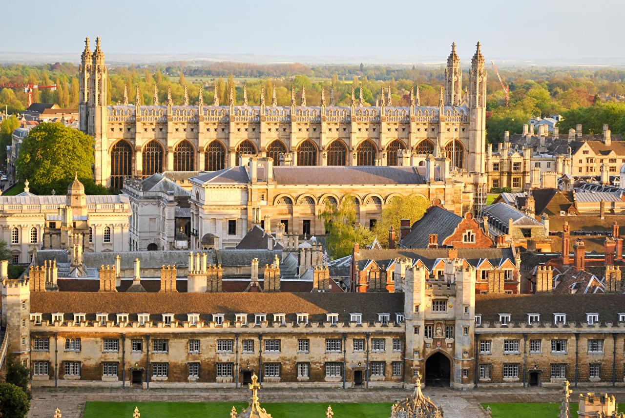 Фотографии Великобритания University of Cambridge Города Здания Дизайн Дома город дизайна