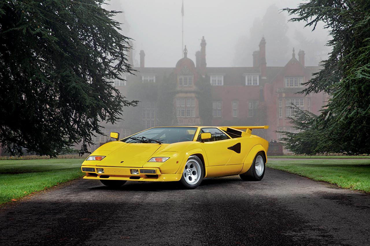 Фотографии Lamborghini 1981 Countach LP400 Желтый автомобиль Ламборгини желтых желтые желтая авто машина машины Автомобили